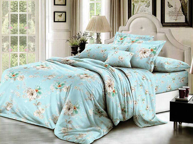 Полуторный комплект постельного белья из полиэстера