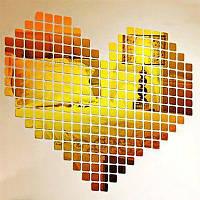 Акриловые наклейки с наклейками на стенах Мозаичные стильные наклейки Золотой