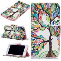 Экономный шаблон дерева Роскошный кожаный чехол для мобильного телефона с футляром для iPhone 7 Plus / 8 Plus Зелёный