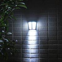 Солнечный светодиодный настенный светильник для сада наружный декоративный свет белый свет