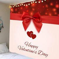 День святого Валентина, теплый бант, печатная стена, висящий гобелен ширина59дюймов*длина51дюйм