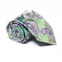 Модные социальные развлечения Зеленый бизнес-галстук Жаккардовый тонкий мужской галстук Зелёный