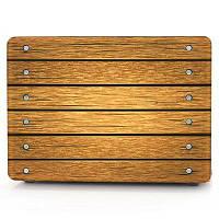 Компьютерная оболочка для ноутбука Кейс-клавиатура для MacBook Air 11,6-дюймовый 3D-дерево для зерна-коричневый Коричневый