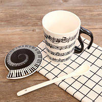 270ML Creative Music Note Note Cup Чёрный
