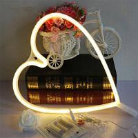Новинка Heart Shaped Night Light Светодиодная настенная подвеска для домашнего свадебного декора Тёпло-белый свет