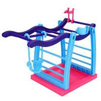 Интерактивный джунгли Тренажерный зал Playset Подъемная платформа для мультфильма Toy Monkey Розовый