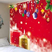 Рождество Висячие Шарики И Свечи С Рисунком Гобелен ширина59дюймов*длина51дюйм