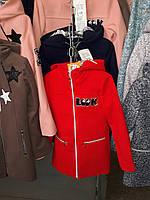 Стильное пальто для девочек демисезонное