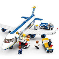 Sluban Building Block Plane Городской грузовой терминал аэропорта (463 шт.) Синий цвет
