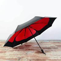 Atongm Cherry Blossom Sun Umbrella Анти-ультрафиолетовый черный клей Складывание двойного использования красный+черный