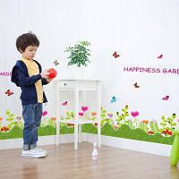 DSU Красочные цветы Бабочки Заборы Плинтус Наклейки на стены Главная Декоративные наклейки 50x70cм