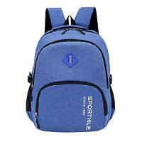 GANJOY повседневный рюкзак из канваса для путешествий Синий