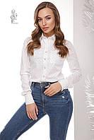 Женская приталенная блузка Ромбус с длинным рукавом, фото 1