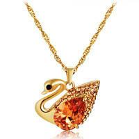 Красивое украшение кристалла Swan кристаллическое привесное Золотой