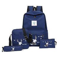 Повседневный рюкзак для путешествий с изображением оленя Тёмно-синий
