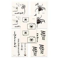 5шт Женская красная наклейка для татуировки на губах Комплект Водонепроницаемый милый мультфильм Все аксессуары для аксессуаровYMBY153-157