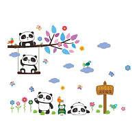 DIY Sweet Panda Decal Wall Sticker Детская комната Украшение