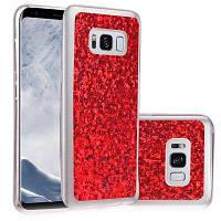 Мягкий чехол для модной одежды Shining Powder Sequins для Samsung Galaxy S8 Plus Красный