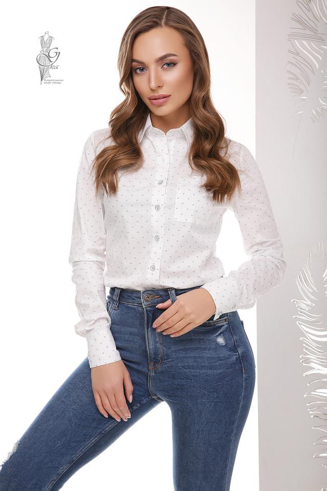 Фото Женской приталенной блузки Ромбус
