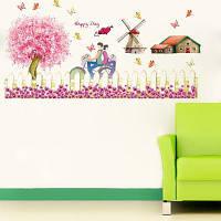 DSU Ветряные мельницы Заборы DIY Виниловые наклейки для гостиной для детей Комната Спальня Разноцветный