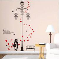 DSU Street Lights Love DIY Виниловая наклейка для стен Art Decal для детской комнаты Home Decor Разноцветный