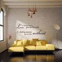 DSU Romantic Words Английская цитата Art Love Wall Sticker Чёрный