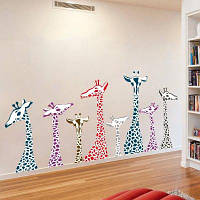 DSU Лесные животные Жираф стены стикер для детской комнаты детской спальни Decal 2PCS Разноцветный