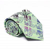 Модный мужской бизнес-галстук из кешью Шаблон Простой стиль Повседневный Стильный галстук Зелёный
