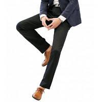 Прямые удобные брюки из тонкого костюма Black Male 40