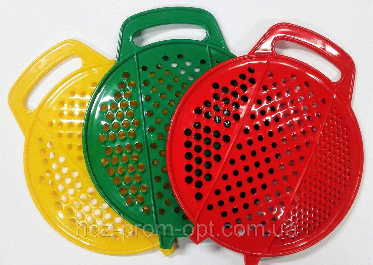 Тёрка круглая для овощей и фруктов. Пластик.
