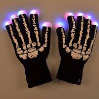 Творческий череп LED Мигающий велоспорт Нейтральные перчатки один размер