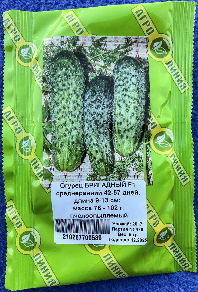 Семена огурца сорт Бригадный F1 5 гр ТМ Агролиния