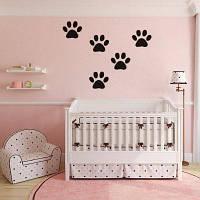 DSU Funny Dog Cat Wall Стикер для детской комнаты Домашнее украшение 58x10cм