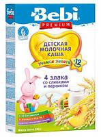 Молочная каша Bebi Junior Мюсли со сливками и персиком, 200 г