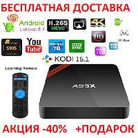 NEXBOX A95X TV BOX Android Смарт ТВ телевизионная приставка медиаплеер 1GB+8GB Amlogic S905X Smart tv