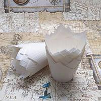 Бумажные формы Тюльпан Белые