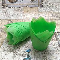 Бумажные формы Тюльпан Салатовые