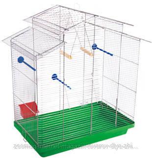 Клетка хром «Нимфа» для средних декоративных птиц, Природа™