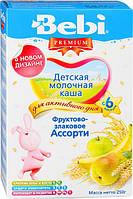 Молочная каша Bebi Premium фруктово-злаковое ассорти, 250 г