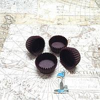 Бумажные формы для конфет Коричневые (30*15 мм.)