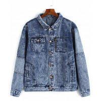 Куртка из джинсовой ткани 5XL