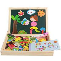 Детская деревянная головоломка Магнитная доска Pretend Play