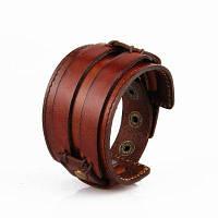 Мода Ювелирные изделия Оригинальность Мужчины Ручная одежда Кожаный браслет Темно-русый