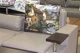 Угловой диван в эксклюзивной ткани 2