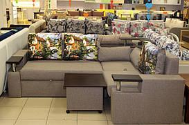 Угловой диван в эксклюзивной ткани
