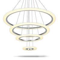 Современный акриловый светодиодный подвесной светильник Простой обрезной интерьерный светильник теплый свет
