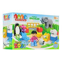 Детский конструктор JDLT 5083, зоопарк, фигурка, животные 4 шт., 23 детали