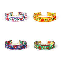 Вышивка Фолк-пользовательские ювелирные изделия ожерелье цветок комплект Женский ключицы цепи 1 комплект