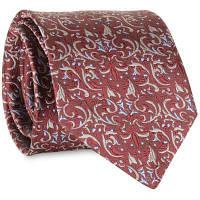 Урожайный узор из кешью Украшенный искусственный шелковый галстук Красное вино