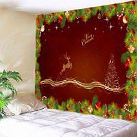 Настенный витраж Рождественский сосновый олень Печать Гобелен ширина59дюймов*длина51дюйм